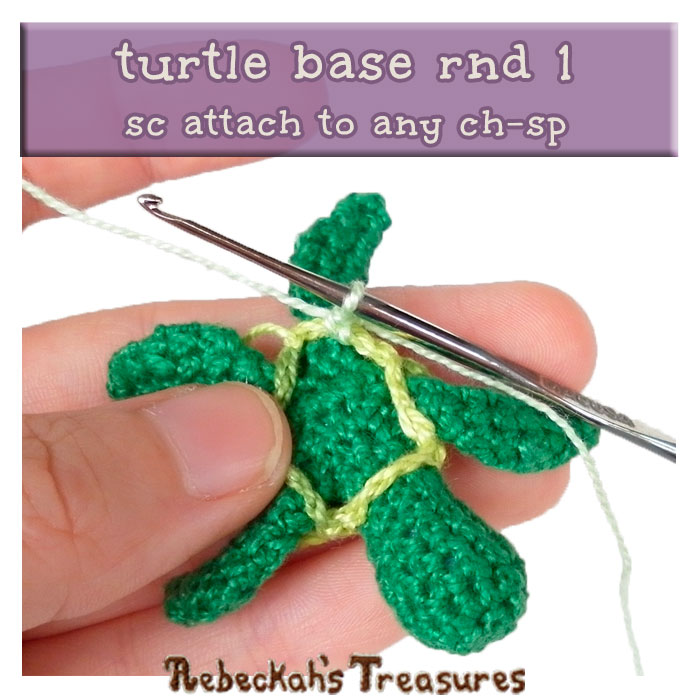 WIP Picture 16 | Crocheting the Turtle's Base via @beckastreasures | FREE Finger Puppet Crochet Pattern!