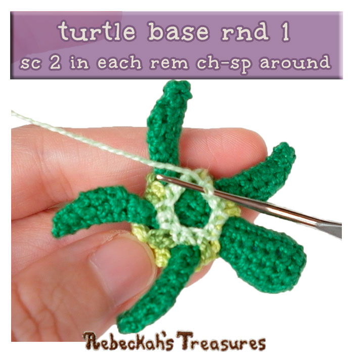 WIP Picture 18 | Crocheting the Turtle's Base via @beckastreasures | FREE Finger Puppet Crochet Pattern!