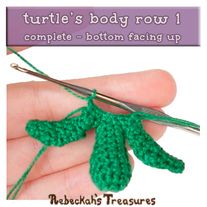 WIP Picture 04 | Crocheting the Turtle's Body via @beckastreasures | FREE Finger Puppet Crochet Pattern!