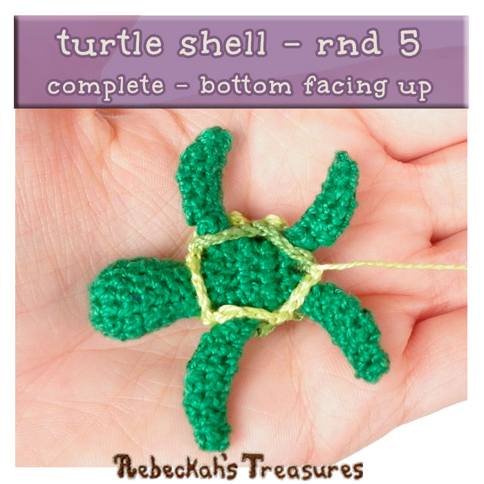 WIP Picture 15 | Crocheting the Turtle's Shell via @beckastreasures | FREE Finger Puppet Crochet Pattern!