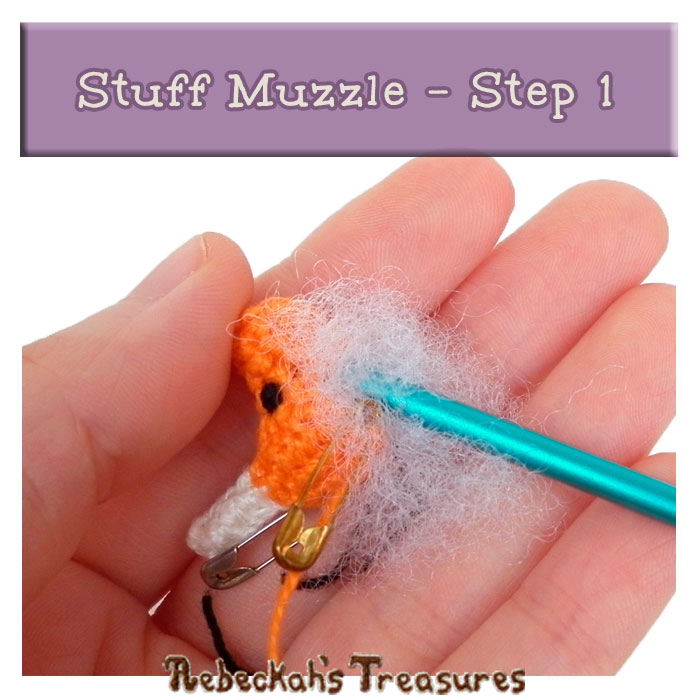 WIP Picture 21 | Stuff Unicorn Muzzle via @beckastreasures | FREE Pencil Topper / Finger Puppet Crochet Pattern!