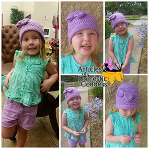 Simple Charity Toddler/Child Hat - Free Crochet Pattern by @ArtofaDG | Featured at Articles of a Domestic Goddess - Sponsor Spotlight Round Up via @beckastreasures | #fallintochristmas2016 #crochetcontest #spotlight #crochet #roundup