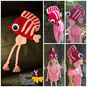 Finley the Fish Hat | Friday Feature #18 via @beckastreasures with @ArtofaDG #crochet | See the latest designer features here: https://goo.gl/UIvoYx OR SIGN UP to get featured at Rebeckah's Treasures here: https://goo.gl/xjDP52 #crochet