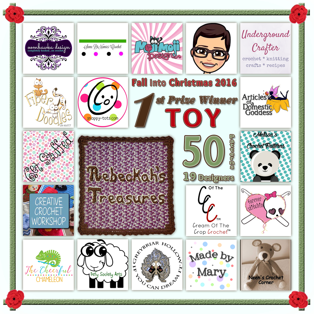 VOTE TOY in the Fall into Christmas 2016 crochet contest via @beckastreasures! | Help your favourites win these awesome prizes. | FIRST PRIZE: 3 month magazine subscription + 47 #free #crochet patterns! | Up to 5 votes daily! Vote here: https://goo.gl/89N8Jd #fallintochristmas2016