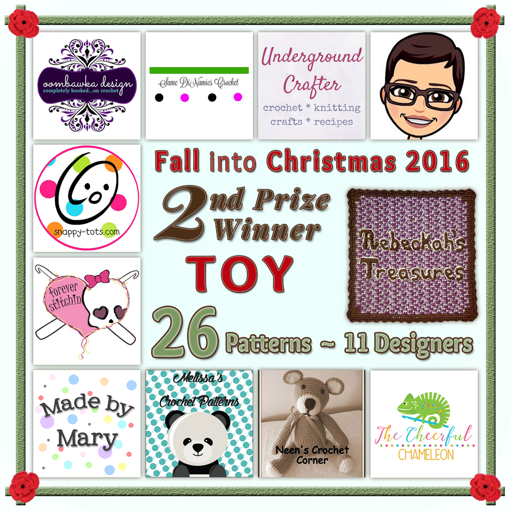 VOTE TOY in the Fall into Christmas 2016 crochet contest via @beckastreasures! | Help your favourites win these awesome prizes. | SECOND PRIZE: 26 #free #crochet patterns! | Up to 5 votes daily! Vote here: https://goo.gl/89N8Jd #fallintochristmas2016
