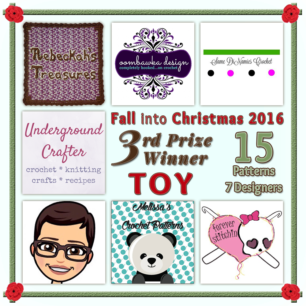 VOTE TOY in the Fall into Christmas 2016 crochet contest via @beckastreasures! | Help your favourites win these awesome prizes. | THIRD PRIZE: 15 #free #crochet patterns! | Up to 5 votes daily! Vote here: https://goo.gl/89N8Jd #fallintochristmas2016