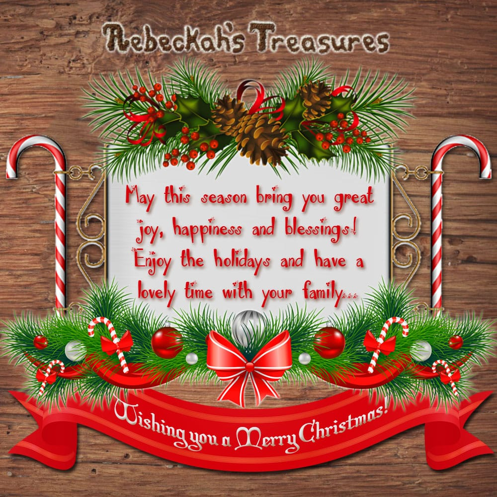 Rebeckah's Treasures' wishes you a Merry Christmas! Come grab a Christmas Present from @beckastreasures today... | *Ends at 23:59 EST on Christmas Day 2016