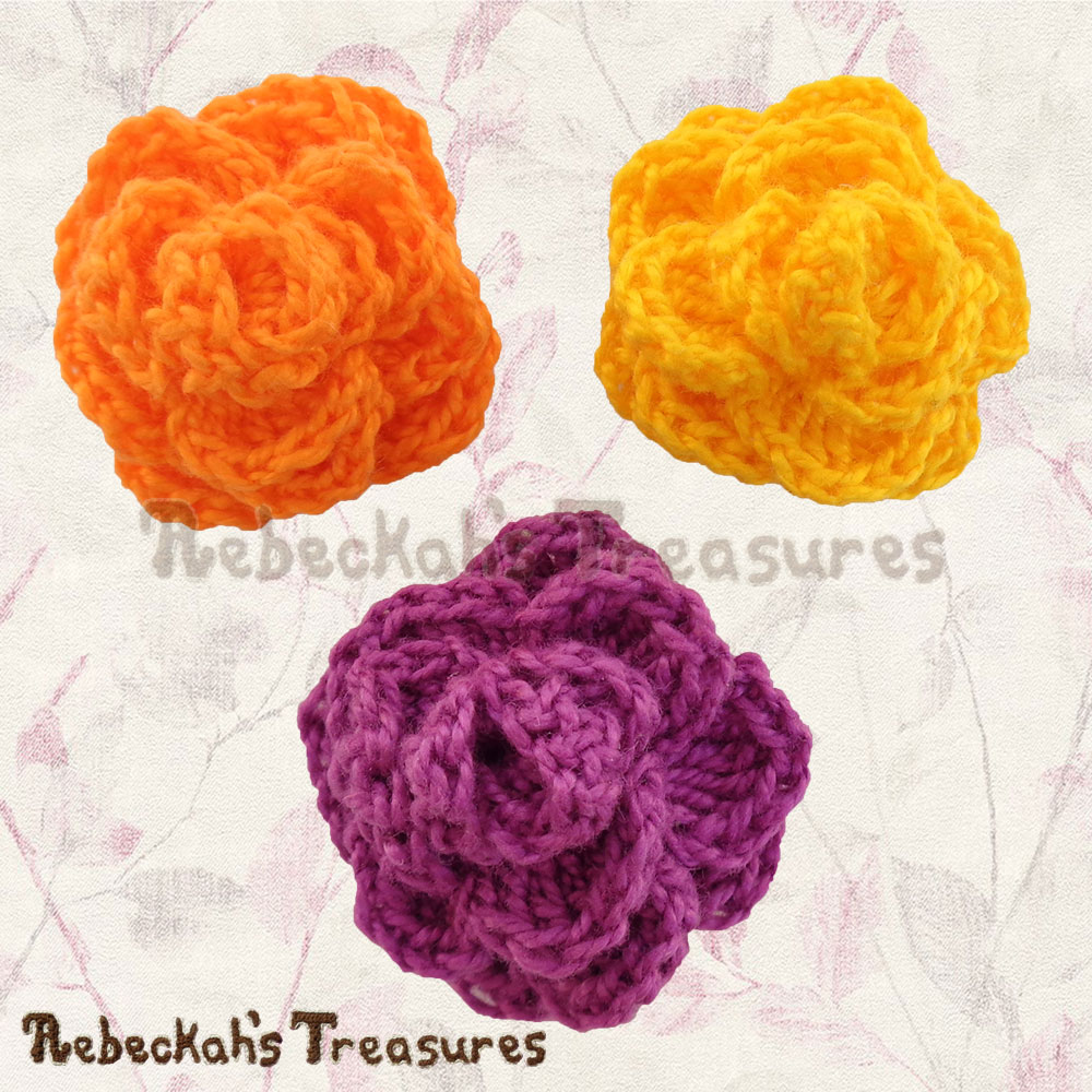 Ring Around the Rose | Premium Crochet Pattern by @beckastreasures with FREE video tutorial! | #rose #crochet #pattern #tutorial #rosebud