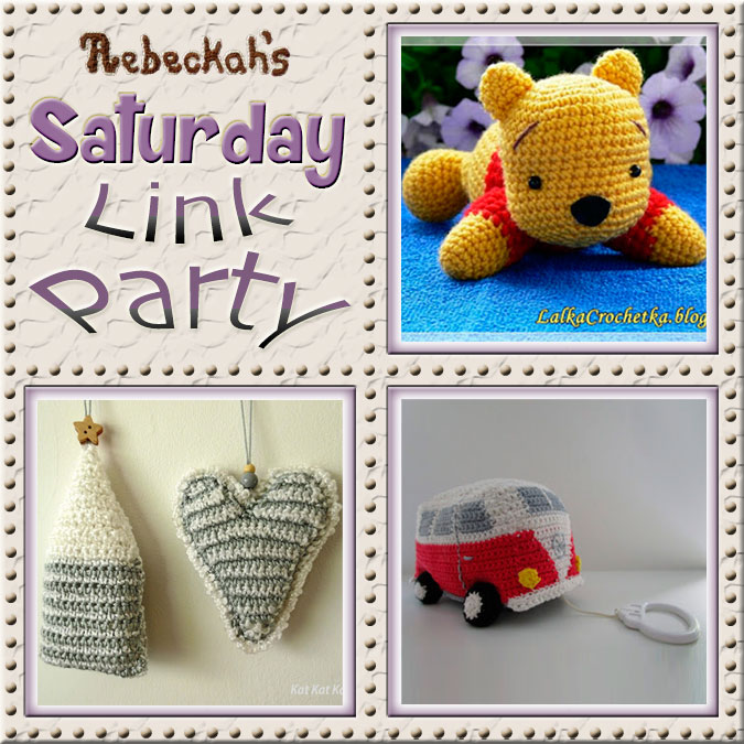 Saturday Link Party #62 via @beckastreasures with #lalkacrochetka #katkatkatoen & #vrolijkbyleen | Come see 3 awesome project features, and JOIN us for an all NEW link party today! | #linkparty #crochet #knit #crafts #recipes #dyi #howto #tutorials #patterns | *Party #62 ends Friday, November 18th, 2016. Join the latest parties here: https://goo.gl/uUHihU