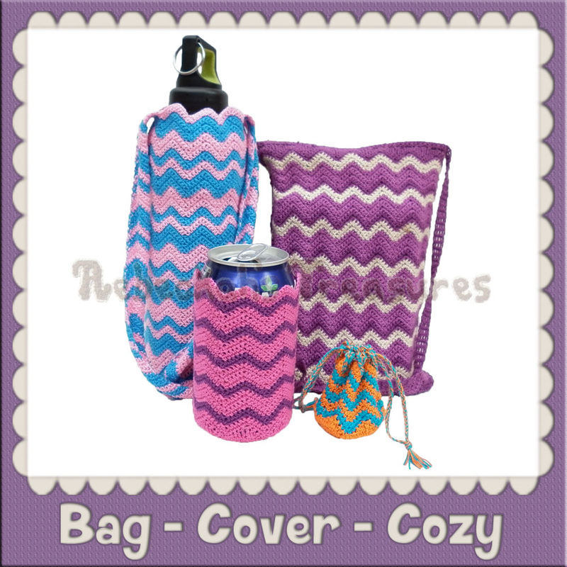 Bag - Cover - Cozy | Free Crochet Patterns by @beckastreasures