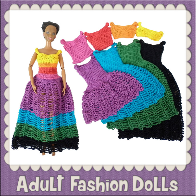 Adult Fashion Dolls - Free Crochet Patterns by @beckastreasures