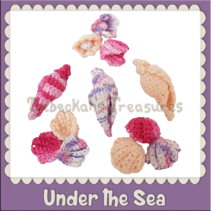 Under the Sea Free Crochet Patterns by @beckastreasures