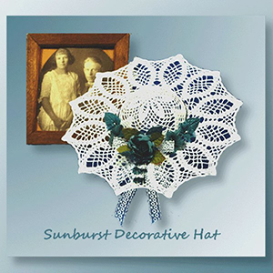 Sunburst Decorative Hat - Crochet Pattern by @crochetmemories Featured at Crochet Memories - Sponsor Spotlight Round Up via @beckastreasures | #fallintochristmas2016 #crochetcontest #spotlight #crochet #roundup
