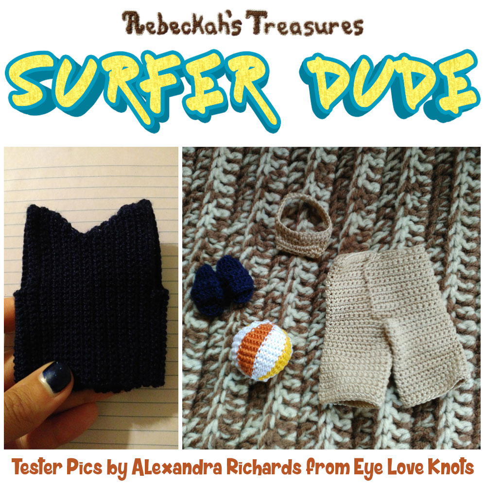 Surfer Dude Fashion Doll Crochet Pattern by @beckastreasures | Tester Pictures by Alexandra #EyeLoveKnots