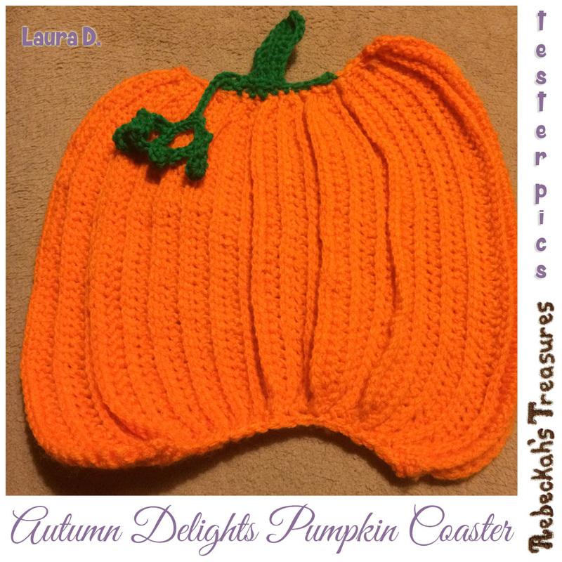 Autumn Delights Pumpkin Coaster Free Crochet Pattern ...