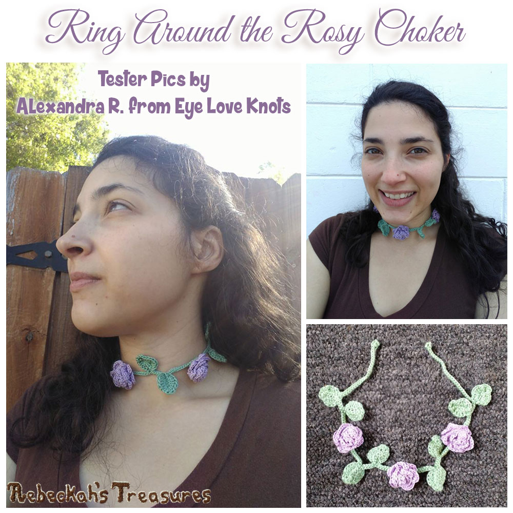 Ring Around the Rosy Choker | Crochet Pattern by @beckastreasures | Tester Pictures by Alexandra #EyeLoveKnots