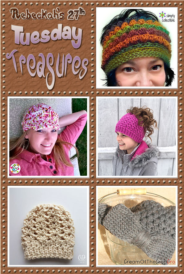 Tuesday Treasures #27 via @beckastreasures with @SCCelinaLane @SnappyTots @crochetbyjen @OombawkaDesign & @COTCCrochet | Come see 5 popular crochet pattern designs of today!