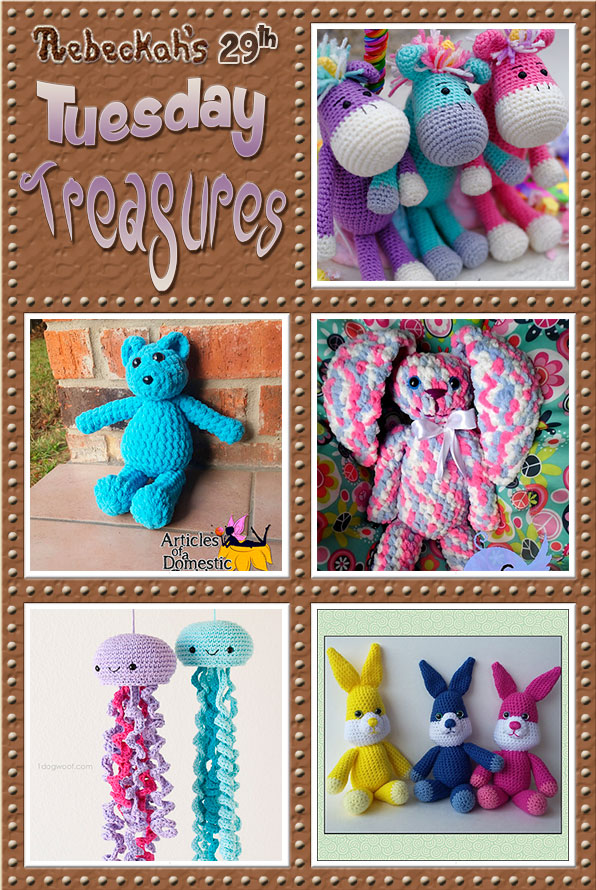 Tuesday Treasures #29 via @beckastreasures with @Amidorable @ArtofaDG @stitch11_corina @1dogwoof & @melissaspattrns | Come see 5 popular crochet pattern designs of today!