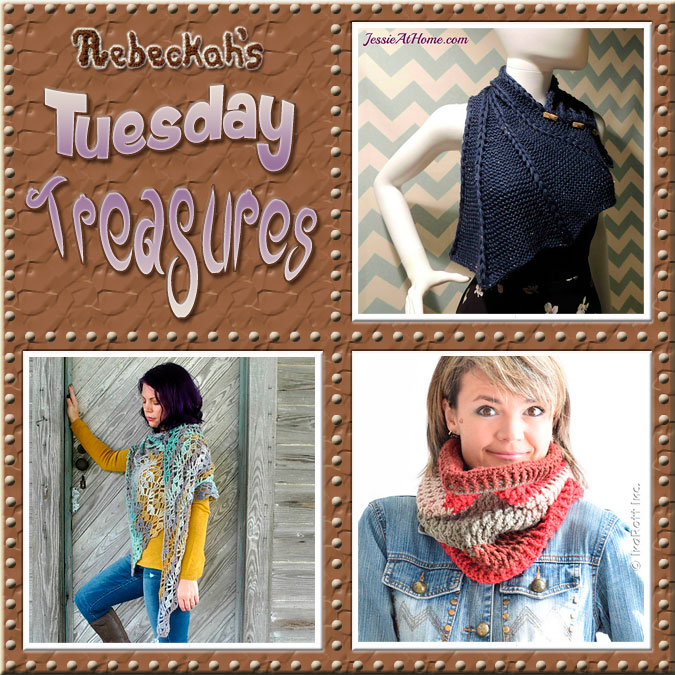 Come see this week's treasures at Rebeckah's 11th Tuesday Treasures via @beckastreasures | Featuring @Jessie_AtHome @Cre8tionCrochet & @IraRott | #crochet #treasures