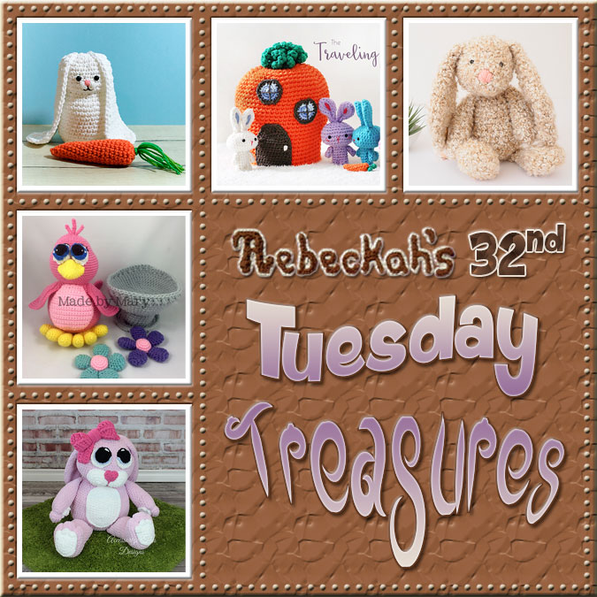 Tuesday Treasures #32 via @beckastreasures with #AccessorizeThisDesigns #MadeByMary @PetalstoPicots #Doriyumi & @1dogwoof | Come see 5 popular crochet pattern designs of today!