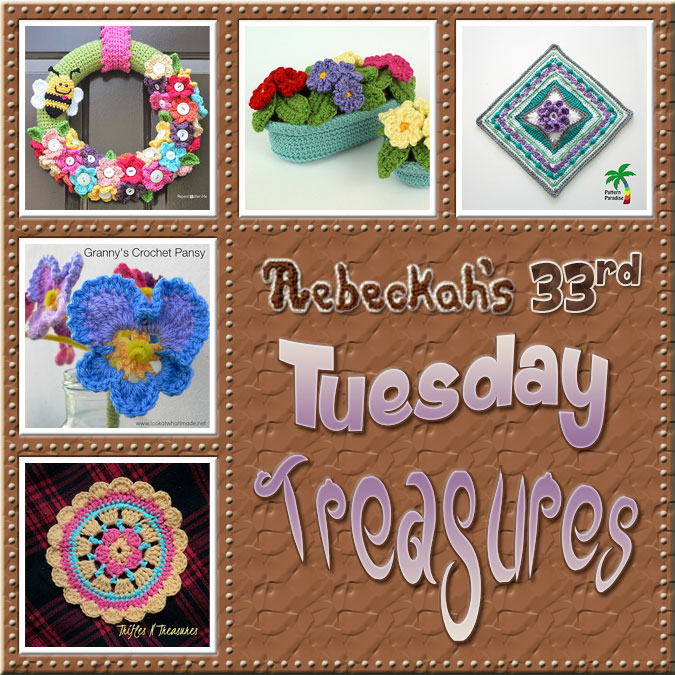 Tuesday Treasures #33 via @beckastreasures with @TriflsNTreasurs @dedristrydom @RepeatCrafterMe @planetjune & @patternparadise| Come see 5 popular crochet pattern designs of today!
