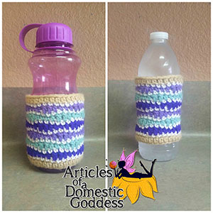 ​Summer Getaway Bottle Cozies - Free Crochet Pattern by @ArtofaDG | Featured at Articles of a Domestic Goddess - Sponsor Spotlight Round Up via @beckastreasures | #fallintochristmas2016 #crochetcontest #spotlight #crochet #roundup