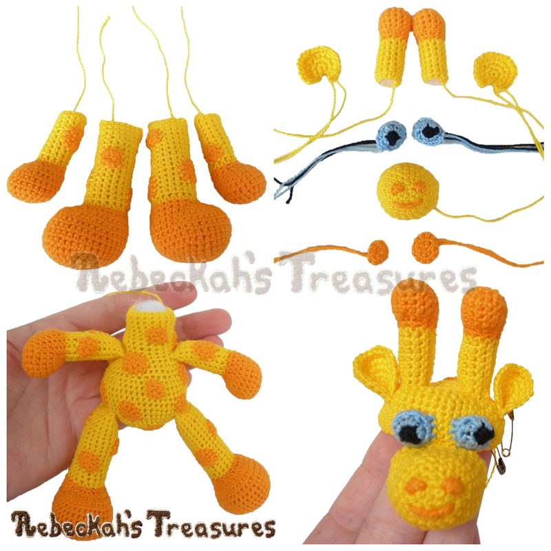 Working on a Crochet Giraffe via @beckastreasures