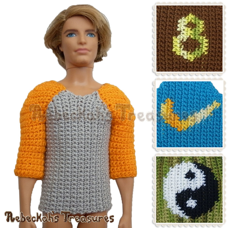 Working on Fashion Dude Tees via @beckastreasures | Crochet patterns to come...