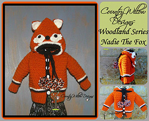 Nadie the Fox Unisex Sweater - Free Crochet Pattern by @countrywillow12 | Featured at Country Willow Designs - Sponsor Spotlight Round Up via @beckastreasures | #fallintochristmas2016 #crochetcontest #spotlight #crochet #roundup