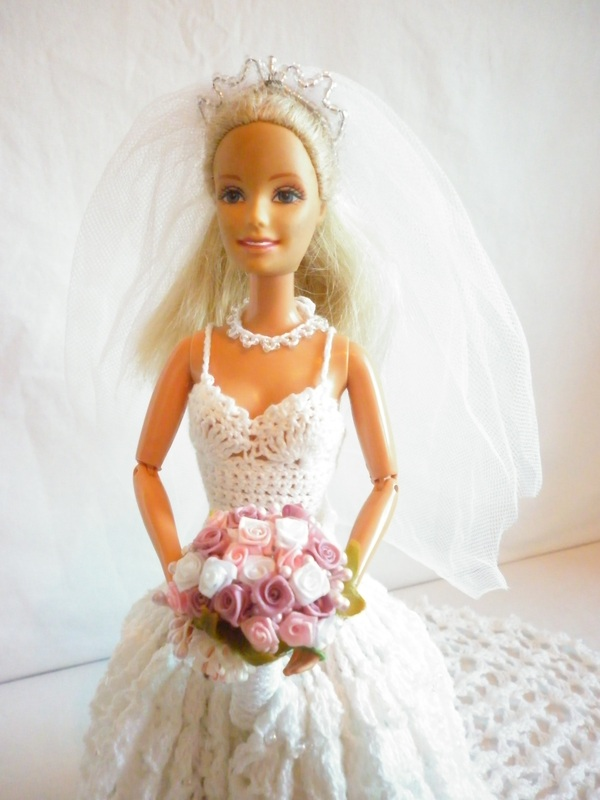 Crochet Barbie Bride Wedding Dress