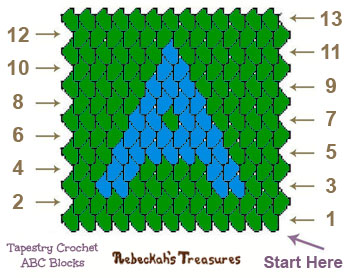 Tapestry Crochet Square A Graph via @beckastreasures