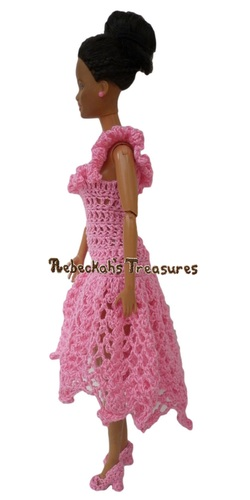Isabel's Barbie Wedding ~ Barbie Bridesmaid Asymmetrical Neckline
