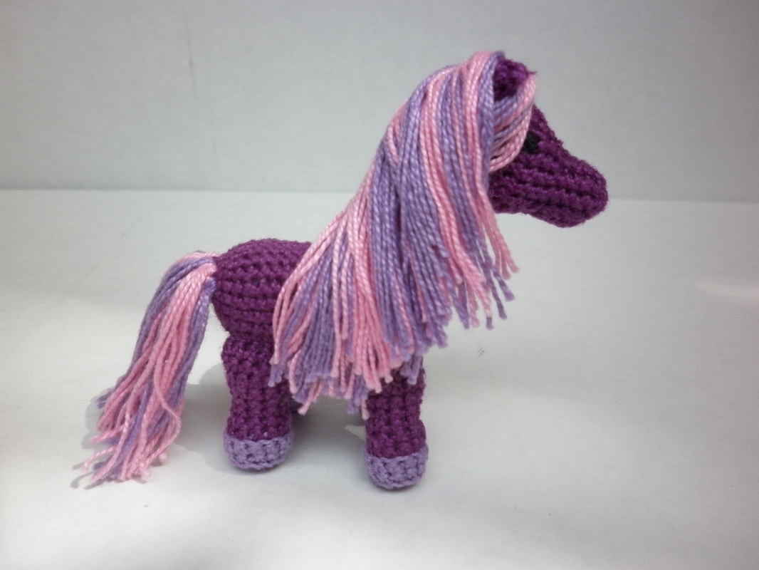 Commissioned Purple Crochet Pony