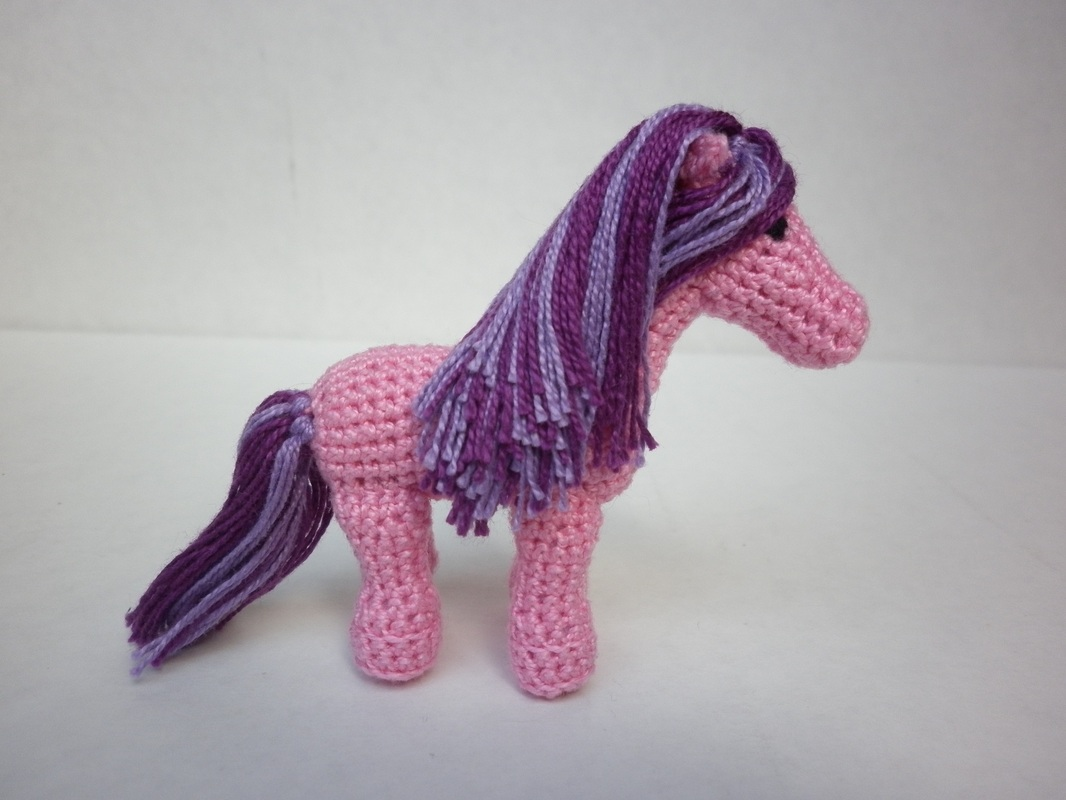 Commissioned Pink Crochet Pony