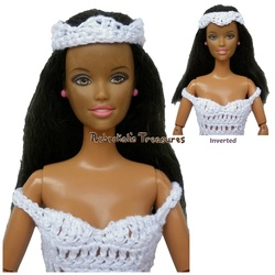Free Crochet Double-V Crown for Fashion Dolls