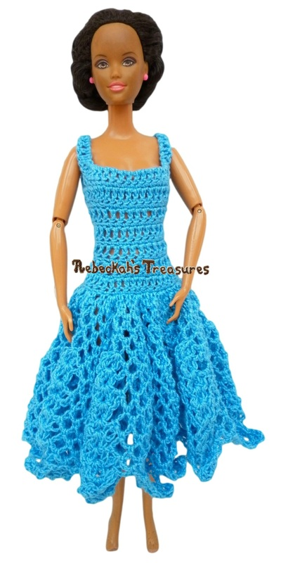 Square, Mid-Calf Ball Gown Barbie Dress