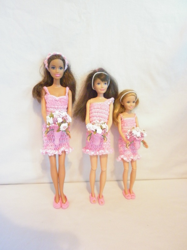 Crochet Barbie Dresses for Barbie, Skipper & Stacy