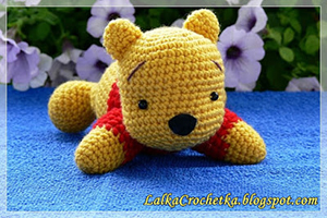 Winnie The Pooh Bear ~ Kubuś Puchatek Przytulanka | Featured at Saturday Link Party #62 via @beckastreasures with #lalkacrochetka | Join the latest parties here: https://goo.gl/uUHihU #crochet