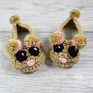 Children's Rad Rodent Slippers - Crochet Pattern by @CheeryChameleon | Featured at The Cheerful Chameleon - Sponsor Spotlight Round Up via @beckastreasures | #fallintochristmas2016 #crochetcontest #spotlight #crochet #roundup