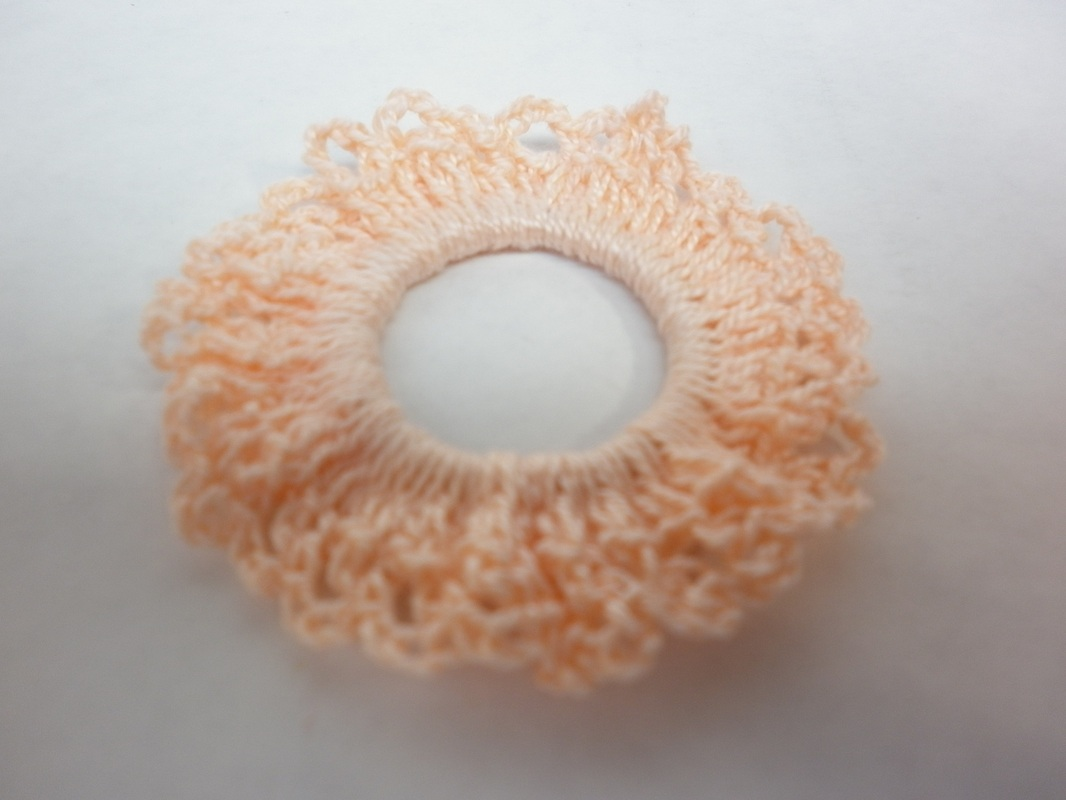 Commissioned Peach Crochet Little Girl Scrunchies