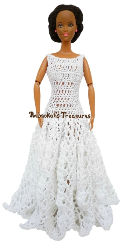 Bateau Ball Gown Barbie Wedding Dress