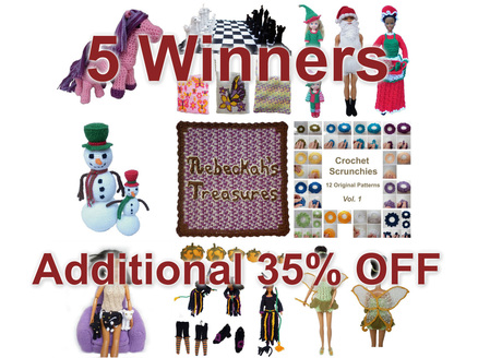 5 Winners for additional 35% off for Thanksgiving weekend sale by Rebeckah's Treasures