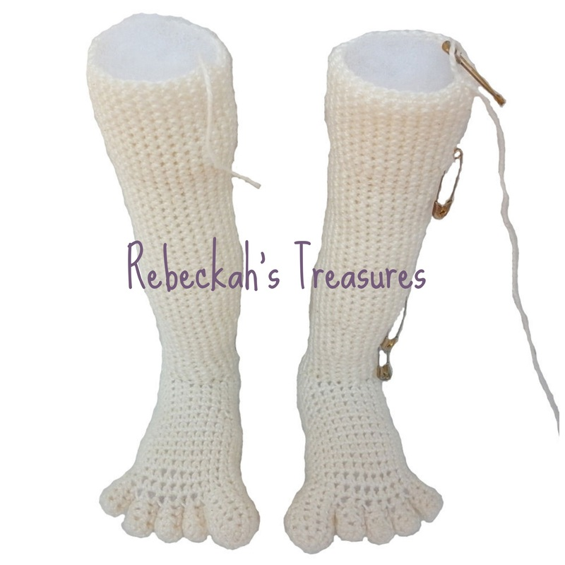 WIP Crochet Amigurumi Dolly by Rebeckah's Treasures ~ Legs