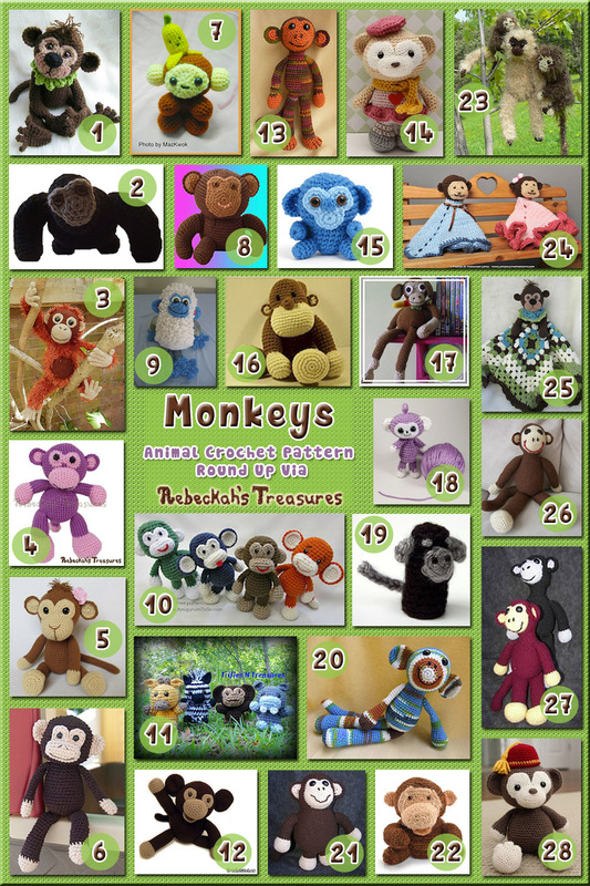 28 Adorable Monkey Toys & Loveys – via @beckastreasures with @ FreshStitches | 4 Monkey Animal Crochet Pattern Round Ups!