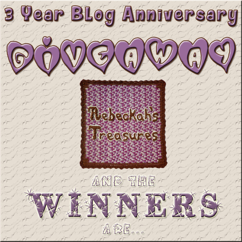 Who are the 3 Blog Anniversary Giveaway Winners via @beckastreasures? Click thru to find out now!