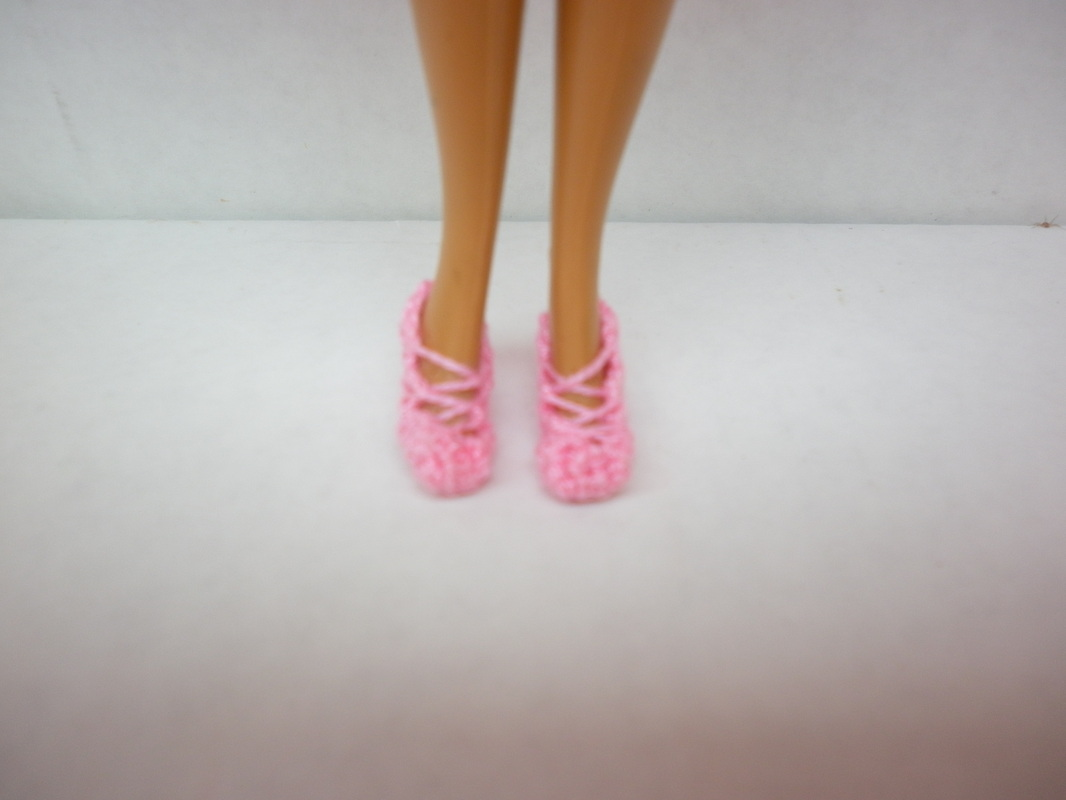 50's Pink - Crochet Barbie Heels