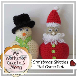 Christmas Skittles Ball Game Set CAL by Joanita of Creative Crochet Workshop - Featured on @beckastreasures Saturday Link Party!