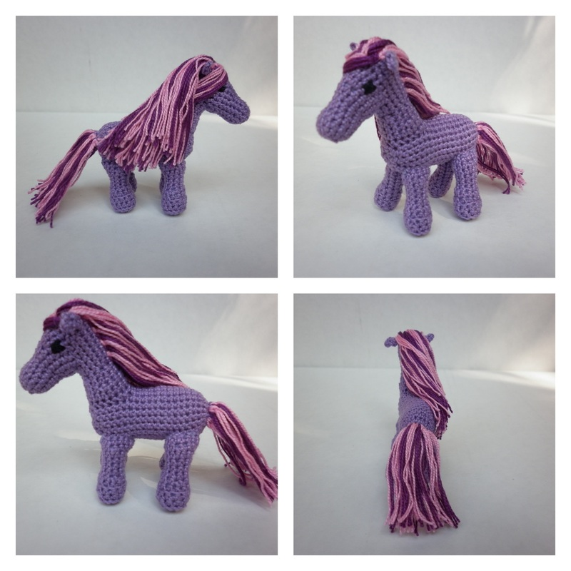 Commissioned Lavender Crochet Pony