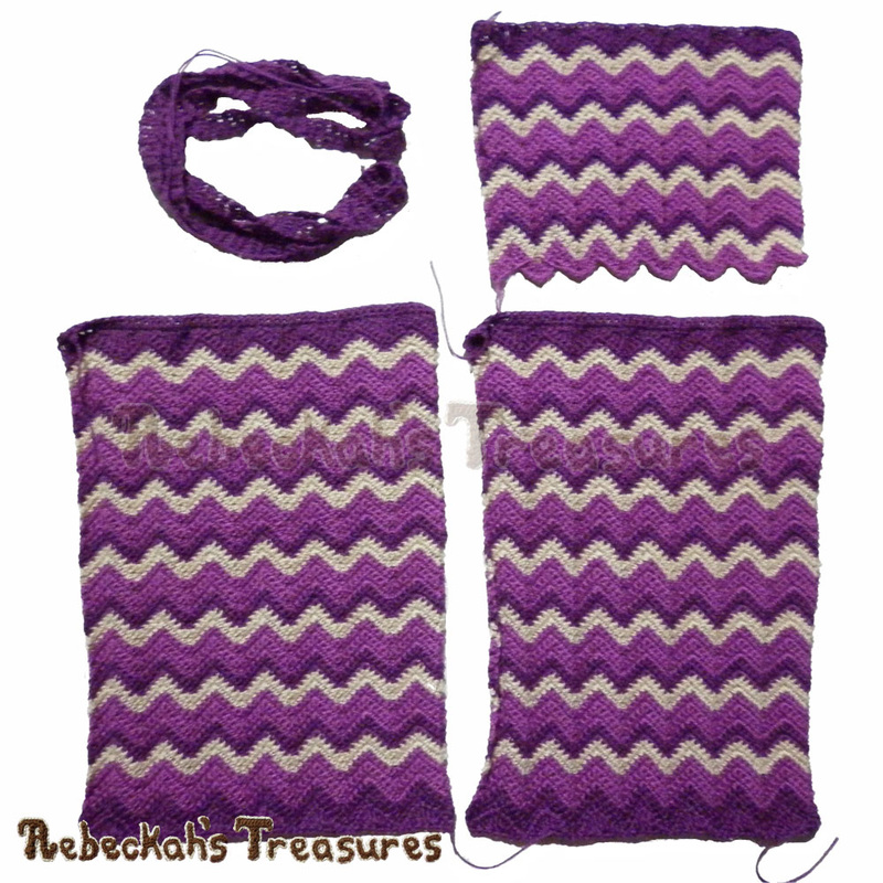 WIP Pic 1 - Chevron Shoulder Bag | FREE crochet pattern via @beckastreasures | Looking for a stylish bag for when you're on the go? This awesome bag is just the right size for carrying a passport, cell phone and other small necessities! #bag #crochet #chevron