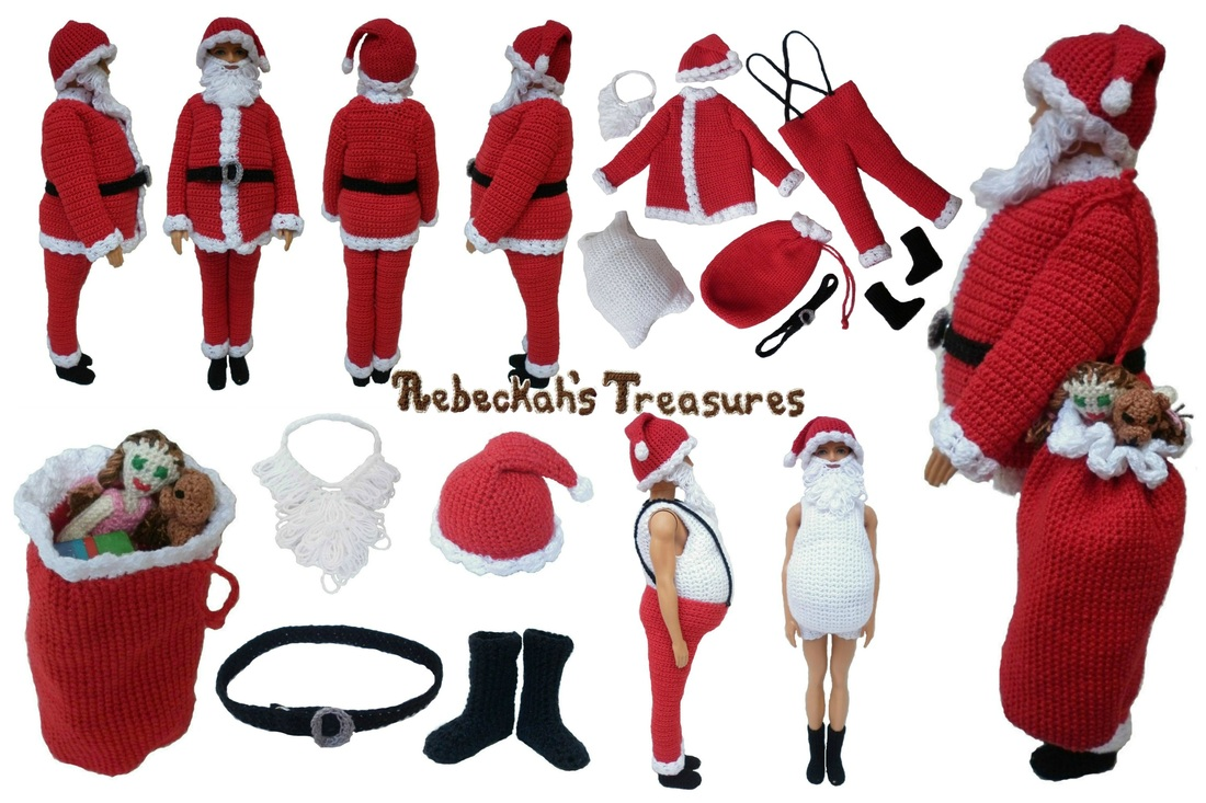 Santa Fashion Doll